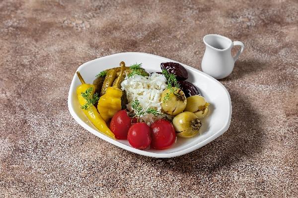 Соління (помідори, огірок, капуста, перець гострий та слива)