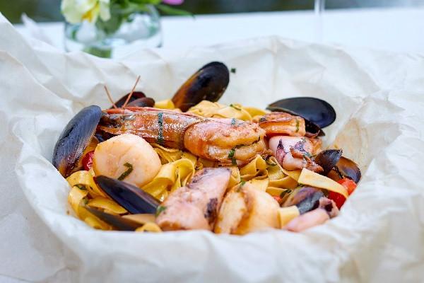 Фірмова паста з морепродуктами