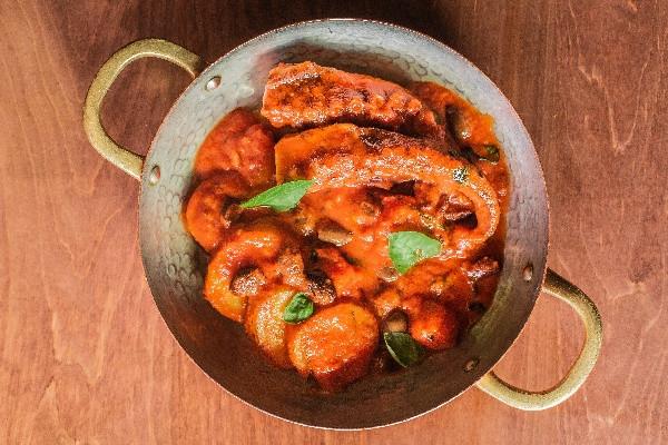 Восьминіг у червоному гострому соусі ала Лучана